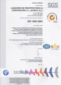 Certification ISO 14001 Alreco
