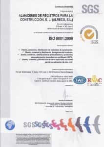 Certification ISO 9001 Alreco