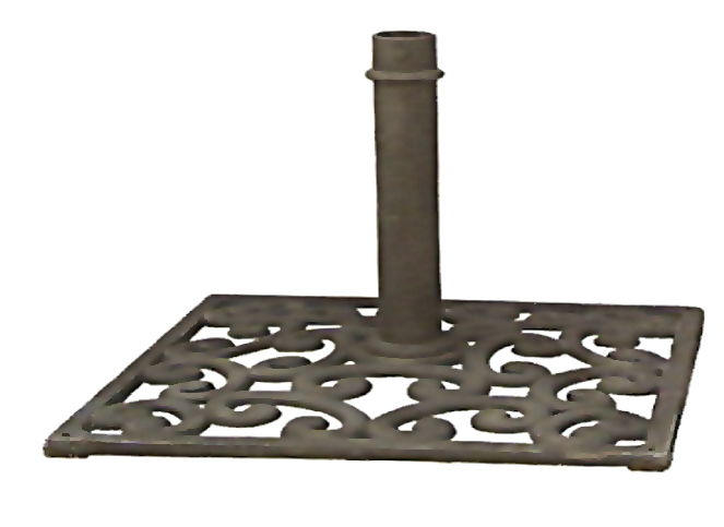 Base de sombrinha em ferro fundido