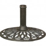 Umbrella base/support in cast iron