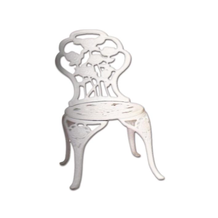 Chaise de jardin en fonte