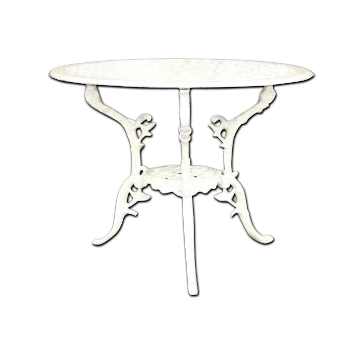 Table de jardin en fonte ductile