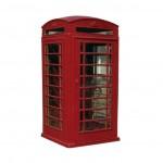 Cabina telefónica estilo inglesa en fundición