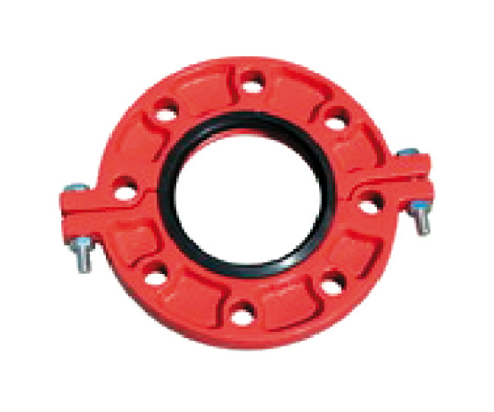 Grooved flange in ductile iron