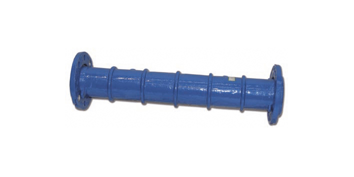 Flanged anchoring sleeve, pipe fitting made of cast iron