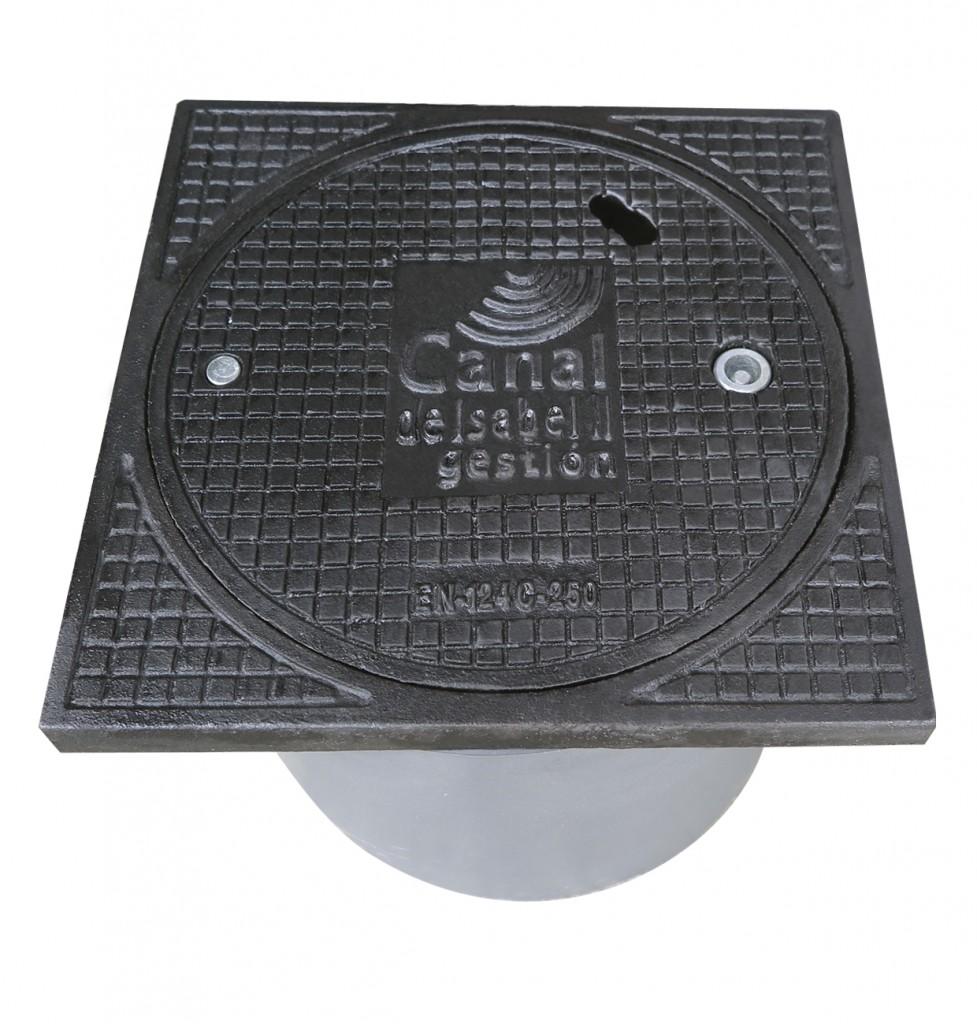 Arqueta Integral Acometida de Agua hecha en fundición dúctil y PVC telescópico