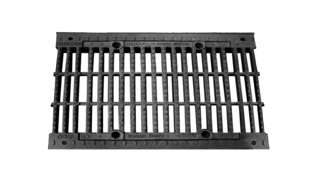Grates for heavy traffic areas and normal