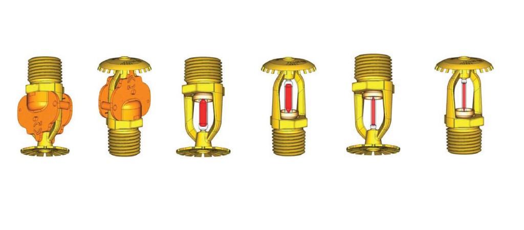 Rociadores colgantes y verticales