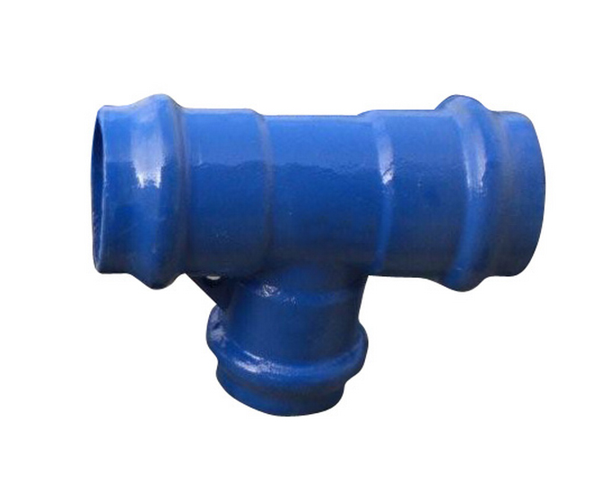 All socket tee made of ductile iron