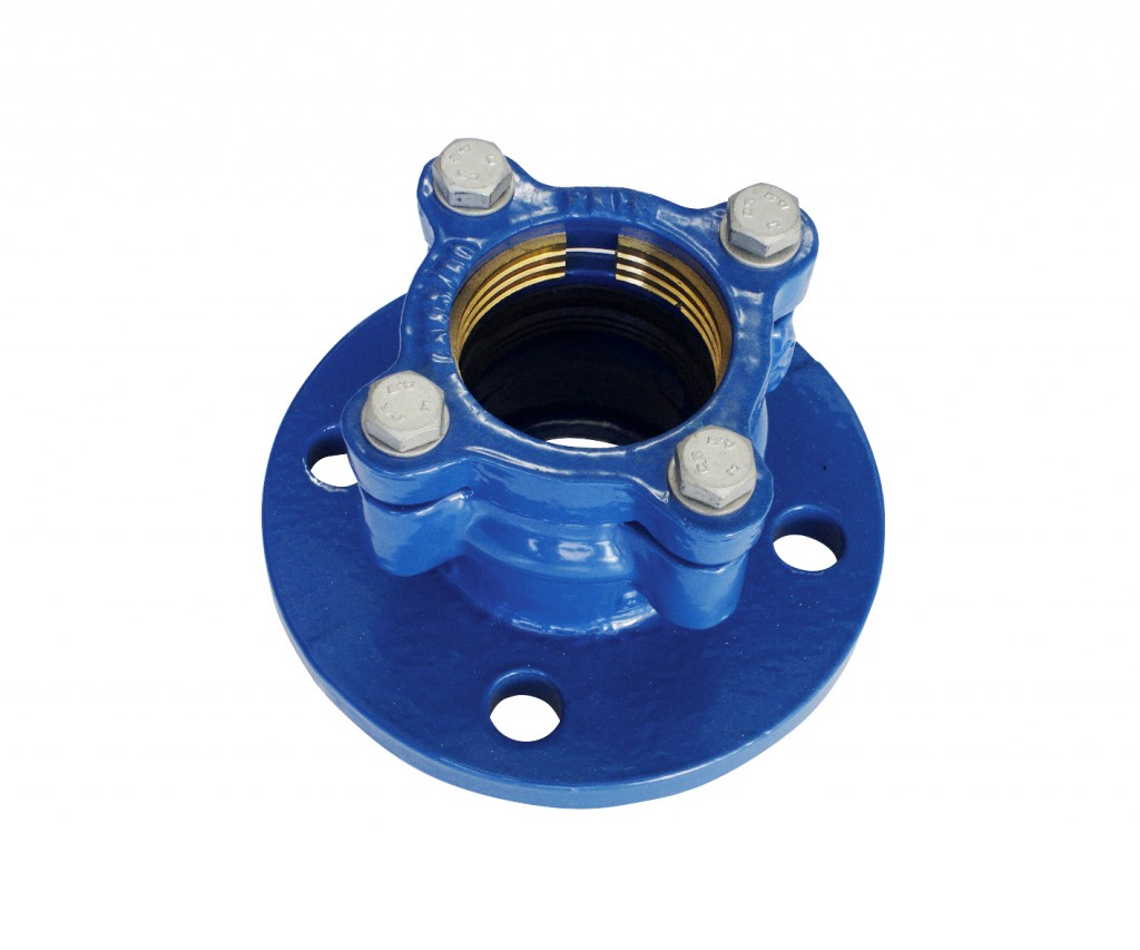 Flanged Adaptator PE / PVC made ​​of ductile iron