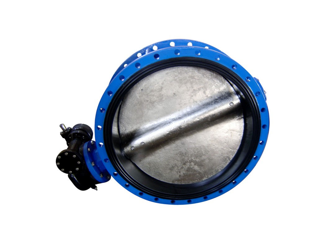 Double Flanged Butterfly Valve - Concentric Disc made of ductile iron